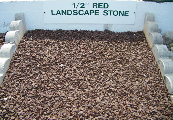 1 2 Quot Pure Red Landscape Stone Westminster Lawn