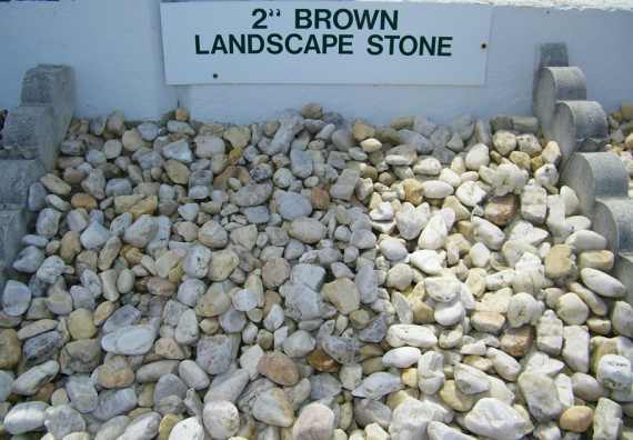 """2"""" brown landscape stone - westminster lawn"""