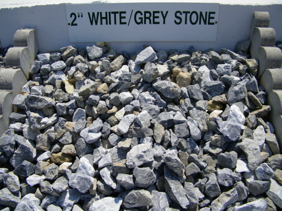 2 white grey landscape stone westminster lawn for Landscaping stones white