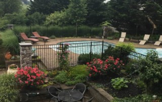 stone and gravel for pool landscaping