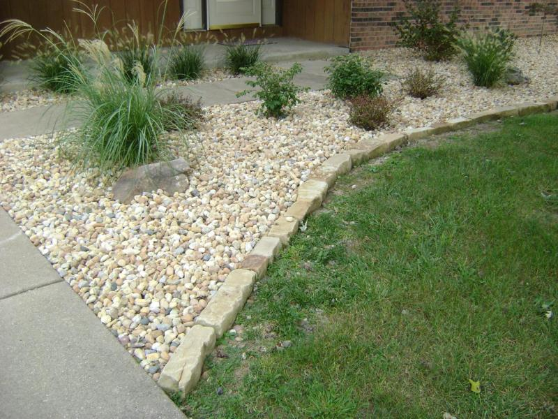 How To Prepare A Garden Bed For Decorative Landscape Stone