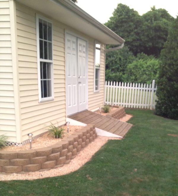 using decorative stone as unifying landscaping element